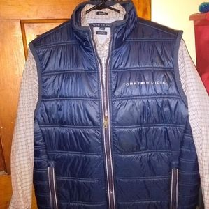 Tommy Hilfiger vest and button up shirt.